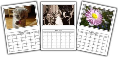 photo calendar template  microsoft word photo calendar diy calendar