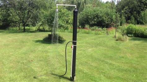solar shower outdoor diy outdoor solar shower by luc courchesne 07 2013 on vimeo