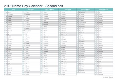 printable calendar 2015 half year 2015 printable calendar pdf or excel icalendars net
