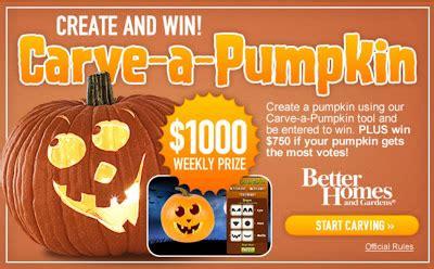 bhg carve a pumpkin sweepstakes 2010 for halloween