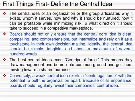 theme central definition boards that lead