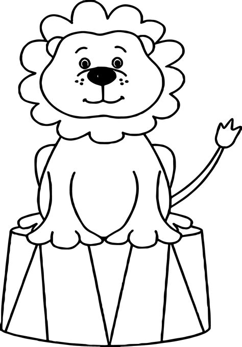 coloring pages of circus animals lion circus animals coloring page wecoloringpage