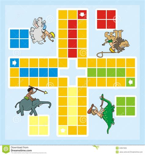 Plan Toys Ludo Pt4622 ludo animals and stock vector image 44841825