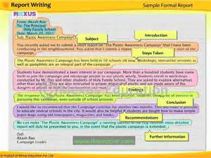 Format Of Report Writing In Grammar by Lesson Learn Report Writing