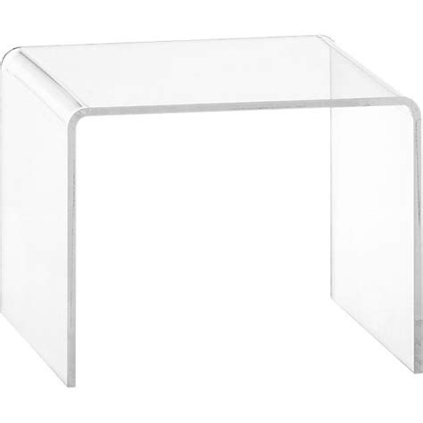 Peekaboo Clear Coffee Table Peekaboo Clear Low Side Table Cb2