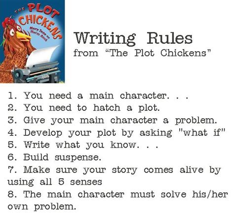 How To Make A Phlet On Paper - writing from the plot chickens infographic word