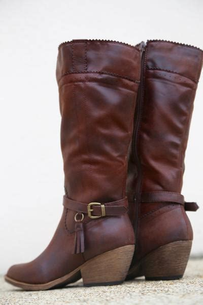 izzy cowboy cut boot by xoxo brown the rage
