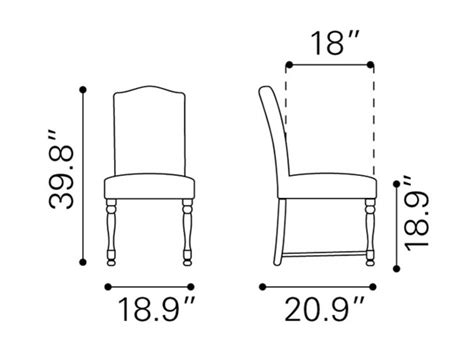 dining room chair dimensions standard furniture dining set brentwood st 11120d standard