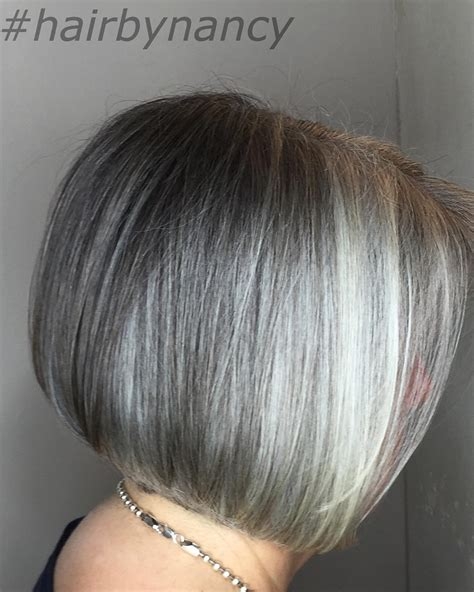 how to put highlights in gray hair blending gray using balayage dark brown hairs