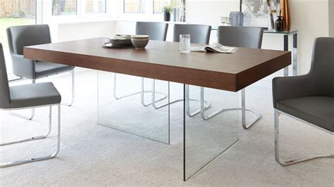 dining table for 6 to 8 seats modern wood dining table glass legs seats 6 to 8