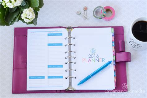 printable planner 5 5 x 8 5 2016 printable planner 2017 organizing homelife