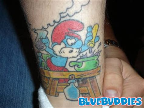 smurf tattoos smurf tattoos poppa smurf temporary removable