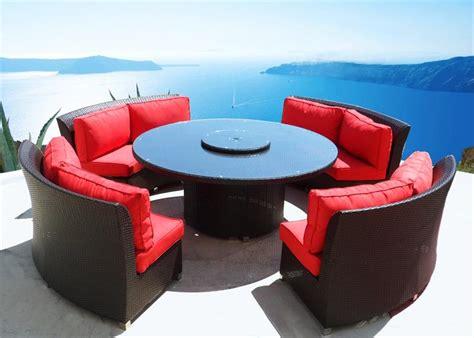 outdoor wicker dining sofa