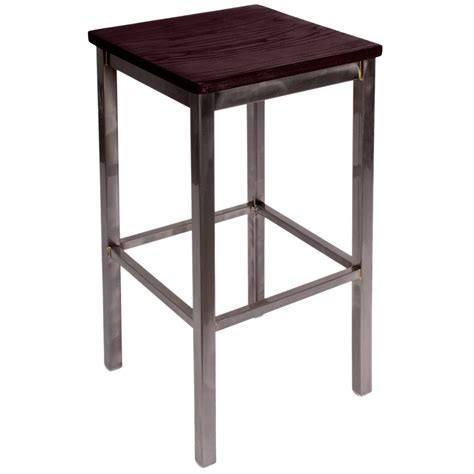 Bfm Seating Bar Stools by Bfm Seating 2510bmhw Cl Trent Clear Coated Steel Bar Stool