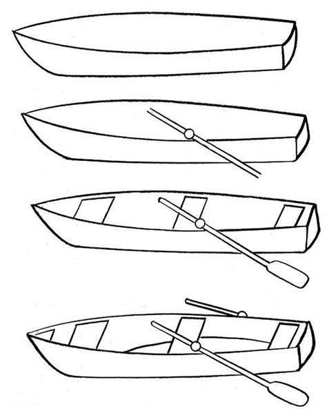 how to draw a boat step by step how to draw a fishing boat how to draw a