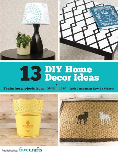 Handmade Home Decor Ideas - quot 13 diy home decor ideas quot free ebook from stencil ease