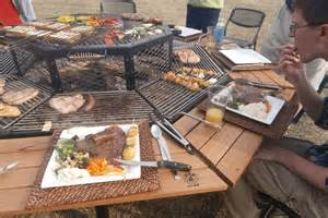 tisch mit grill le barbecue table salle 224 manger 2tout2rien