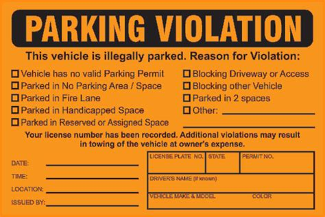 fake parking ticket template printable template