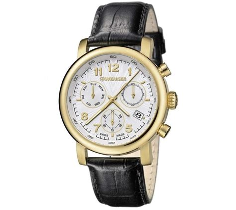 Wenger Vintage Chrono 43mm Swiss Made 011043110 wenger classic chrono gents 01 1043 106