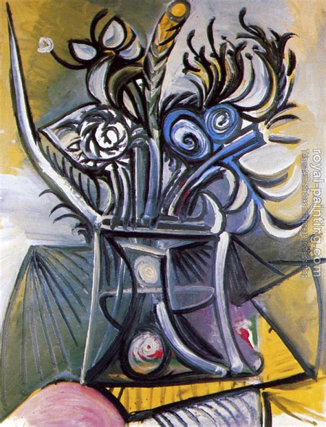 picasso paintings flowers vase of flowers on a table by pablo picasso painting