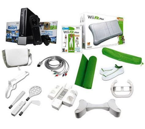 wii gaming console nintendo wii gaming console w wii fit plus fitness bundle