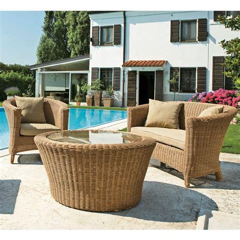 mobili da giardino in vimini salotti da giardino economici idee per la casa