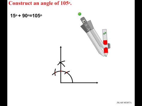 Drawing 75 Degree Angle Compass by Angle Constructions Using Compass 105 Degrees