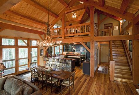 rustic open floor plans i d use a different light maybe a wagon wheel or