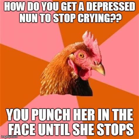 Depressed Meme Face - anti joke chicken meme imgflip