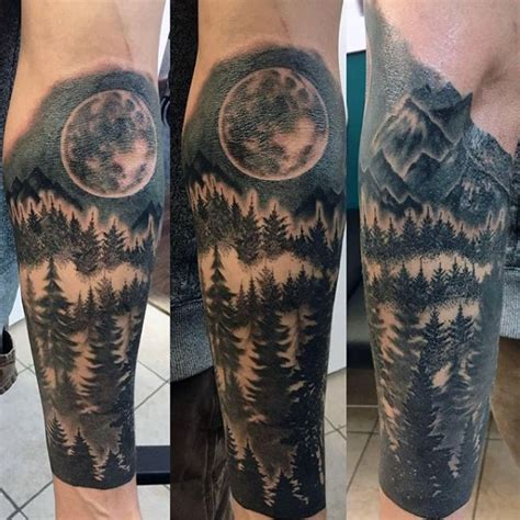 male forearm tattoo designs 100 forest designs for masculine tree ink ideas