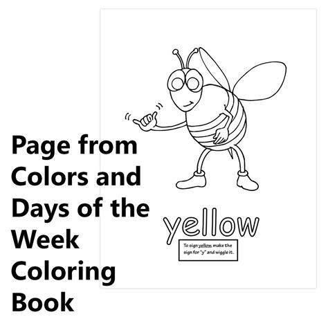 the days of my books signimalz sign language colors and days of the week book