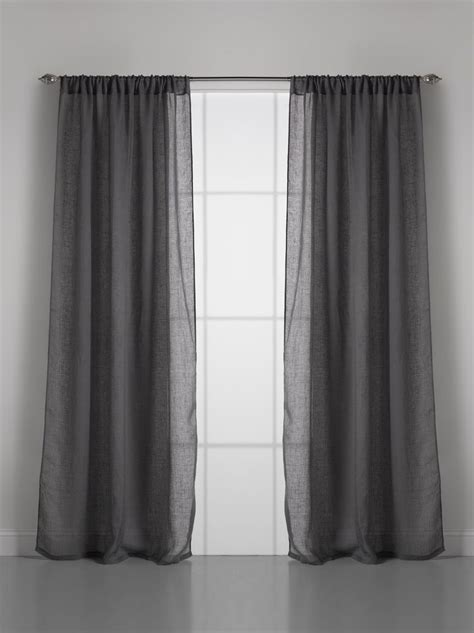 curtain dreams couture dreams solid linen gauze window curtain