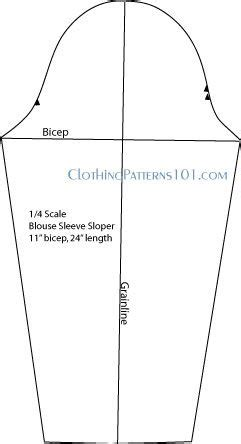 pattern drafting armhole pattern for blouse sleeve straight sides no elbow dart