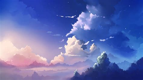 Anime Backgrounds by Anime Sky Wallpapers Wallpaper Cave