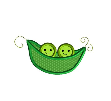 two peas in their pod two peas in a pod applique machine embroidery design instant