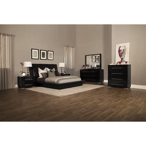 city view bedroom set dimora black upholstered platform bed queen king bed