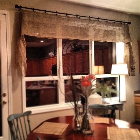 how to make burlap curtains without sewing 25 best ideas about burlap valance on pinterest burlap
