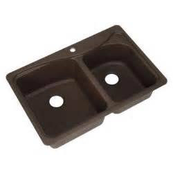 Pegasus Kitchen Sinks Pegasus Dual Mount Composite 33 In 1 Bowl Kitchen Sink In Espresso 441443 The