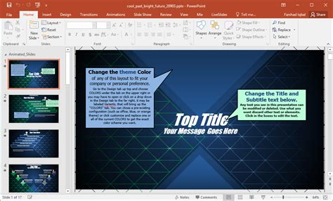 Animated Cool Past Bright Future Powerpoint Template Editing Powerpoint Template