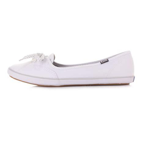womens keds teacup white canvas flat shoes pumps plimsolls