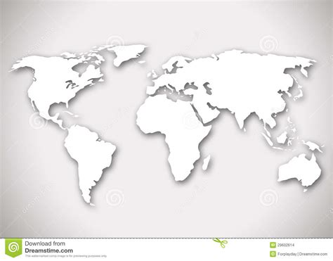 World Map Sticker For Wall immagine di una mappa di mondo stilizzata immagini stock