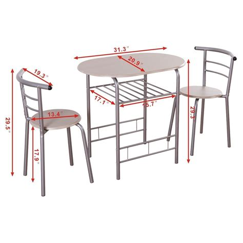 Kitchen Bistro Table And Chairs 3pcs Bistro Dining Set Small Kitchen Indoor Outdoor Table Chairs Patio Furniture