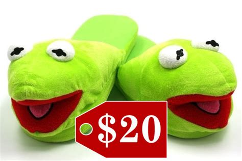 kermit slippers kermit slippers gift guide for zimbio