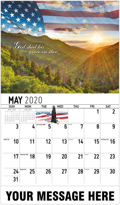 promotional calendar america  beautiful  patriotism calendar
