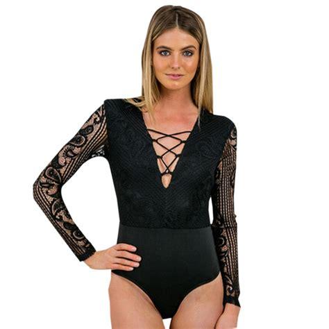 Blouse Black Isn aliexpress buy lace leotard mesh tight white