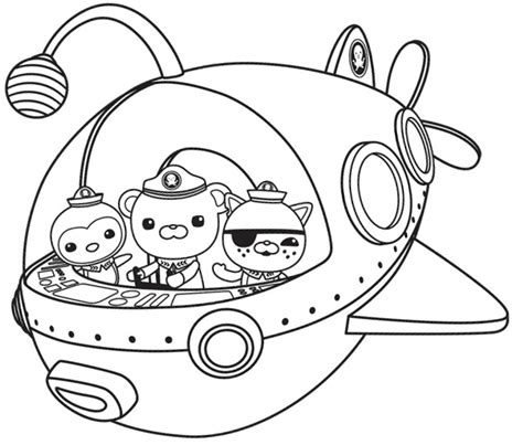the octonauts coloring pages barriee
