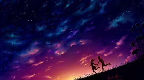 wallpaper anime world romantic cover photo for facebook wallpaper