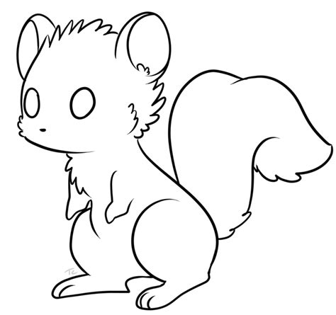 Free Squirrel Lineart By Uluri On Deviantart Free Line Drawings Of Animals