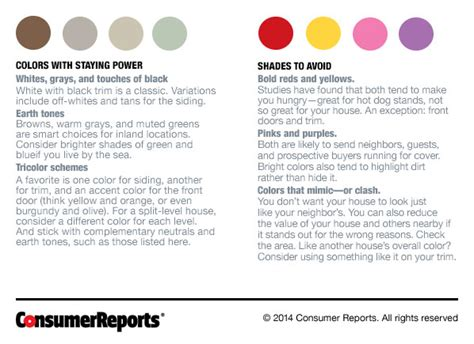 exterior paint colors that sell consumer reports news