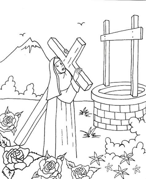 imagenes para colorear a santa rosa de lima dibujos para colorear de santa rosa de lima imagui